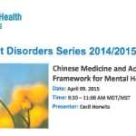 Concurrent Disorders Series - Chinese Med and Mental Health